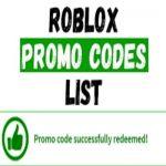 Free roblox promo codes list